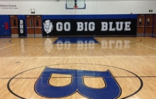 View of Gymnasium With Custom Wall Padding With Graphics